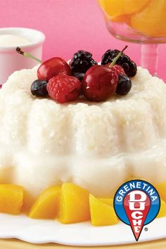 Gelatina de Arroz con leche (rice with milk jello)