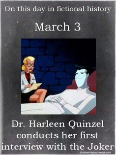 On this day (March 3rd) in fictional history.