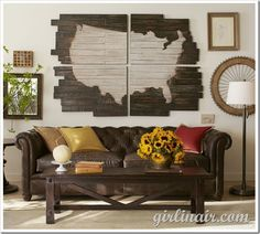 Pottery Barn Knock-Off Giant Map