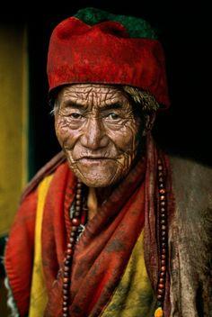 TIBET-10009:  Monk at the Jokhang Temple in Lhasa, Tibet, 2000
