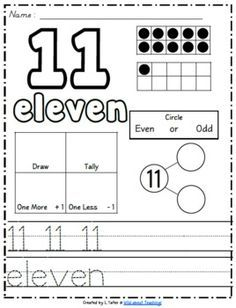 worksheets on numbers 11 to 15 - Google Search