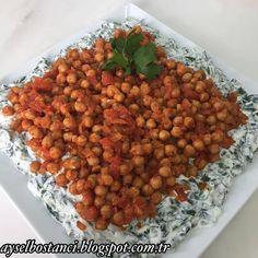 #Tarif @_honeybeetle Nohutlu Ispanak Salatası için; ✅Malzemeler: ✅3 bağ ıspanak (1 kg) ✅Yarım kg süzme yoğurt ✅2 diş sarımsak ✅Tuz ✅1 büyük konserve haşlanmış nohut ✅2 çorba kaşığı zeytinyağı ✅1 tane domates (kabuğu soyulup küçük doğranmış) ✅1 çorba kaşığı domates salçası ✅1 tane kuru soğan (yemeklik küçük doğranmış) ✅Karabiber, kimyon ✅Yapılışı: Temizlenip yıkanmış olan ıspanaklar kaynayan suda 3-4 dakika pişirilip süzülür. Soğuyunca süzme yoğurt, tuz, ezilmiş sarımsak ilave edilip…