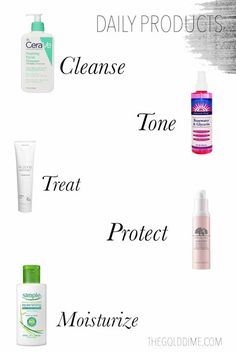 Everyday skincare routine for clearing your skin // The Gold Dime