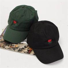 Men Women Rose Embroidery Baseball Caps Adjustable Snapback Hat ($6.69) ❤ liked on Polyvore featuring men's fashion, men's accessories, men's hats, mens snapbacks, mens hats, mens baseball hats and mens baseball caps