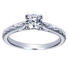 14K White Gold Diamond Engagement Ring By Polenza @ Kranich's Jewelers.