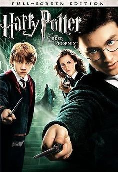 Harry Potter And The Order Of The Phoenix (Fullscreen) on DVD from Warner Bros. Directed by David Yates. Staring Daniel Radcliffe, Rupert Grint, Emma Watson and Fiona Shaw. More Fantasy, Book-To-Film and Family DVDs available @ DVD Empire. Streaming Movies, Hd Movies, Movies Online, Movie Tv, Hd Streaming, 300 Movie, Movie Titles, Movie Props, Harry Potter Movie Posters