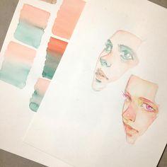 16.5K vind-ik-leuks, 55 reacties - @elfandiary op Instagram: 'practice/study - watercolor on canson'
