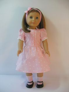 American Girl Emily | 18 Inch Doll Clothes American Girl Molly Emily Dress with Sweetheart ...