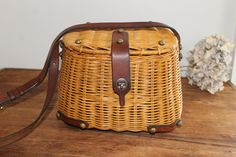 Vintage 1960s John Romain Wicker and Leather ( I have one from Etien Aigner same era, great bag!)
