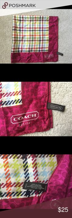 New Coach silk scarf New with out tags Coach scarf . ❌Price firm Coach Accessories Scarves & Wraps