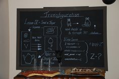 Harry Potter Party - Chalkboards for Transfiguration class