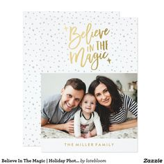 Believe In The Magic   Holiday Photo Card