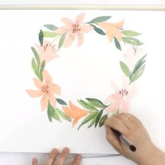 Loose Watercolor Flowers, Loose watercolor floral, Botanical print is part of Watercolor paintings tutorials videos Original watercolor print cotton, acid free paper All items are origina - Watercolor Paintings For Beginners, Watercolor Video, Watercolor Techniques, Watercolor Flowers Tutorial, Watercolour Tutorials, Floral Watercolor, Watercolor Tutorial Beginner, Watercolor Lettering, Arte Van Gogh