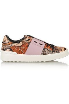 Covered printed leather sneakers #sneakers #offduty #covetme #valentino