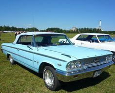 Turquoise 1963 Ford Galaxie 500