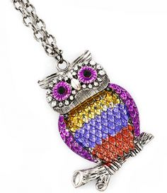 OWL Jewellery is big at the moment. What do you think of our new Owl Pendant necklace? Other colours available too! x