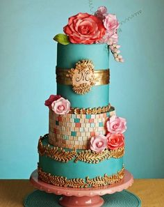 Wedding Cake Perfect!!!!....Best Wedding Cakes Of 2014 Cake Designer: Bliss Pastry // Photographer: Karrah Flores Photography