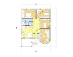 Проект одноэтажного дома, 102,14 м2 | Проекты домов и коттеджей Floor Plans, Hero, Tiny Houses, Floor Plan Drawing, House Floor Plans