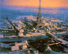 Digital Pastel Drawing of an Aerial View of Paris by Charles W. Bailey, Jr. | by Charles W. Bailey, Jr., Digital Artist