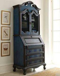 Furniture Secretary Desk Cabinet for 2020 Chalk Paint Furniture, Find Furniture, Furniture Projects, Furniture Makeover, Antique Furniture, Furniture Decor, Farmhouse Furniture, Mahogany Furniture, Dining Furniture