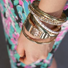 Gold bangles, we'll be adding you to our jewelry box!