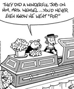 A Wednesday Funeral Funny.  Heritage Funeral Homes, Crematory and Memorial Parks, Arizona #funeralhumor
