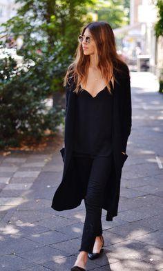 A black ensemble