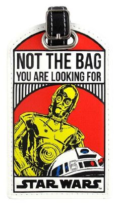 Star Wars Not The Bag You Are Looking For Droids C-3PO/R2-D2 Luggage Tag Star Wars