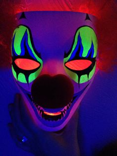 Hand painted mask under black light