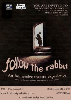 Follow The Rabbit is an immersive theatre experience co-produced by Theatre Giant and Drunk Tank Productionsandbased on the works of Lewis Carroll. Set and costume design for the White Queen by the one and onlyKemey Lafond! Performances run from 15 … Continue reading →