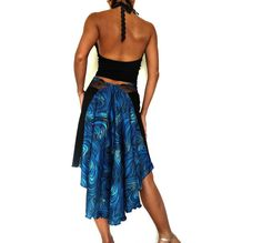 this skirt is made of very soft faux suede jersey, with blue print contrast (the real blue color is darker) and matching french lace from Aubade collection as waistband  Available in:  XS - S waist 64cm stretch to 70cm / 25.2 - 27.6 front length 58cm/ 22.8 back length 76cm / 29.9   Care instruction: Hand wash in cold/warm water with mild soap/shampoo   Please read MIRADA shop Policy before purchasing.   If you are not sure whether a particular style will suit your bod...