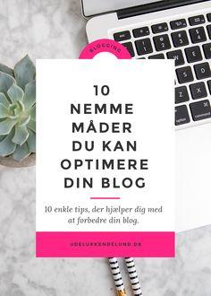 Blogging | Optimer din blog | Blogguide | Blogtips
