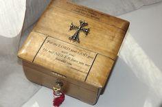 Prayer LOCK BOX. Oak and black Hand Made by DAWNaffirmationBoxes
