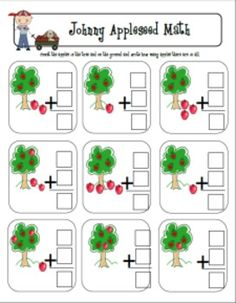 Johnny Appleseed Math Freebie....my mind just went crazy with ideas