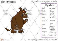 Teacher's Pet - Gruffalo Writing Boards (colour) - Premium Printable Classroom Activities and Games - EYFS, KS1, KS2, grufalo, julia, donaldson, monster
