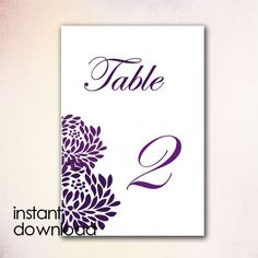 DIY Table Numbers Template Instant Download By CheapoBride - Table number template