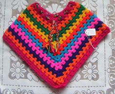 Hand crochet Baby toddler Hippie Poncho's coats - Folksy