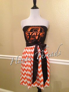 Oklahoma State OSU Cowboys College Gameday Dress by hautethreadsboutique, $70.00