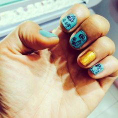 Stamp nail art :D