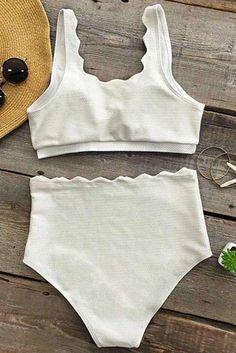 Cupshe Seaside Tank High-waisted Bikini Set