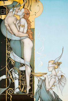"Michael Parkes - The Secret, 2002 ""and the sons of God looked down upon the daughters of men, and saw that they were fair..."""
