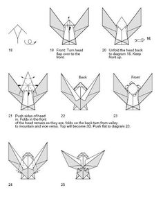 How To Make Angel With Origami Skills This Has Coloured Wings And A White Face Dress When Folded From Soft Paper You Ma