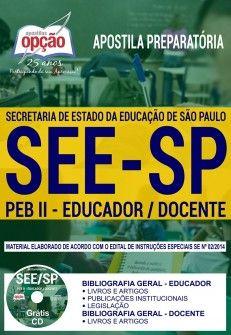 Apostila See Sp Peb Ii Educador Docente Concurso Policia