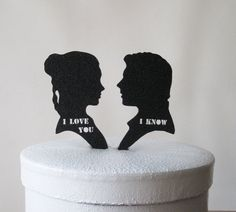 Star Wars wedding cake toppers #nerdalert #want