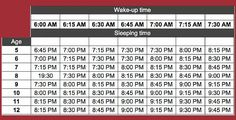 Bed Time Table