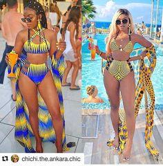 African Print Fashion, African Fashion Dresses, Ankara Fashion, Africa Fashion, African Prints, African Attire, African Fabric, African Dress, African Swimwear