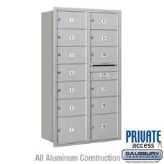 3715d 13arp Recessed Mounted 4c Horizontal Mailbox 15 Door High Unit 55 Inches Double Column With Images Salsbury Industries Mounted Mailbox Mail Center