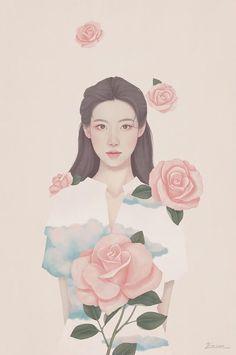 Korean Illustration, Illustration Art, Painting Inspiration, Art Inspo, Legendary Pictures, The Fragile, Digital Art Girl, Korean Art, Anime Art Girl