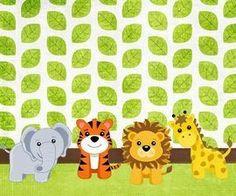 Resultado de imagen para invitaciones de animales bebes para baby shower