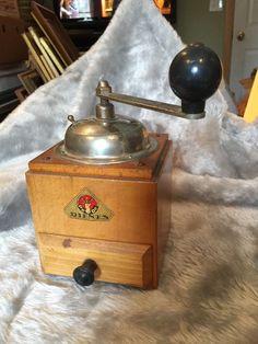 Vintage German Coffee Grinder Pe De Dienes Beans W/ Drawer  | eBay